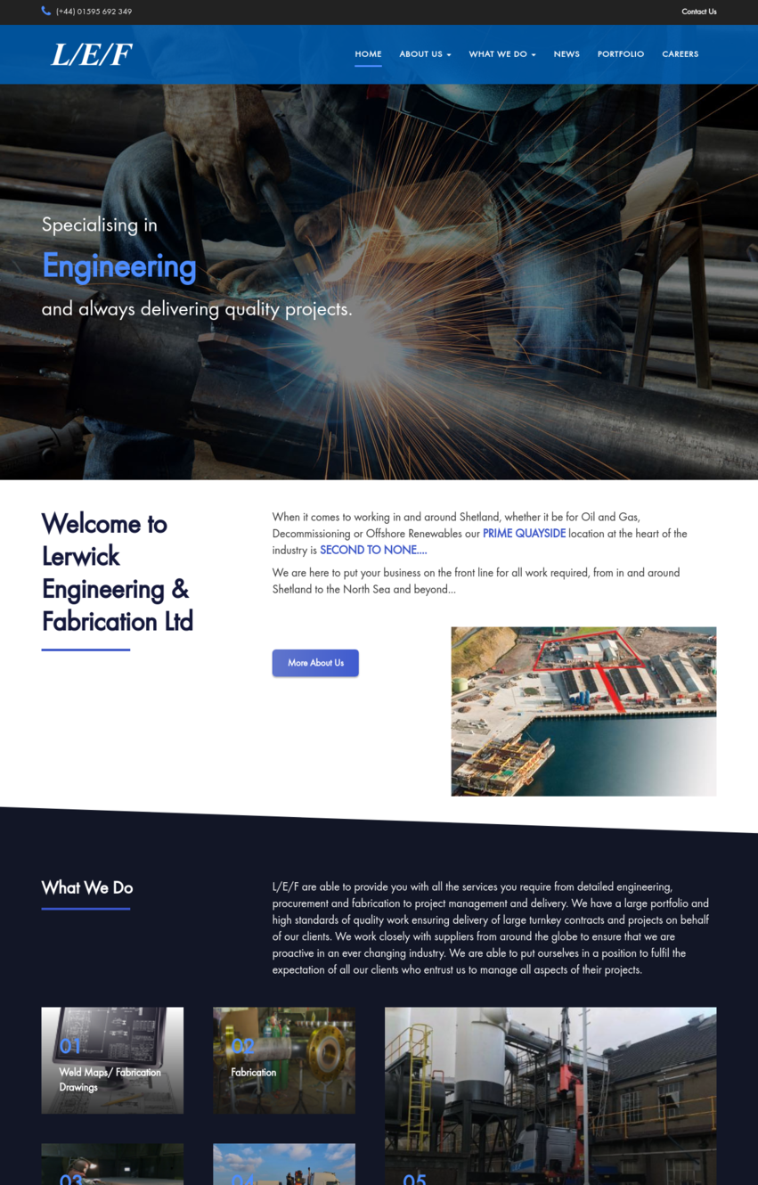 Lerwick Engineering & Fabrication Screenshot