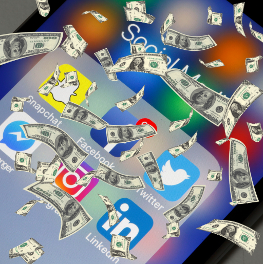 Image of Money on Social Media