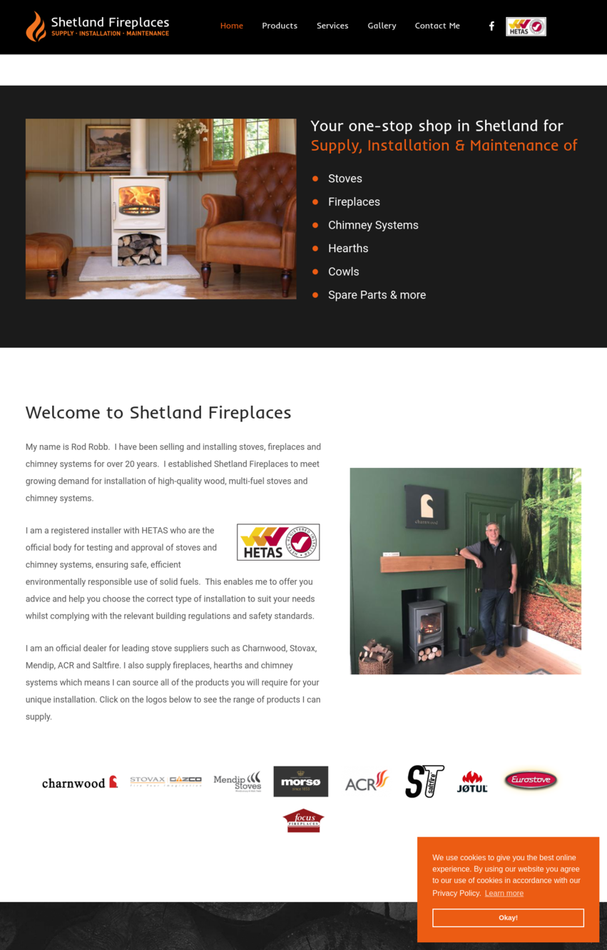 Shetland Fireplaces Screenshot