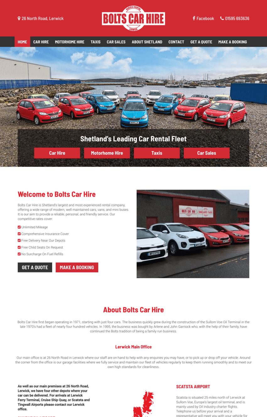 Bolts Car Hire Screenshot